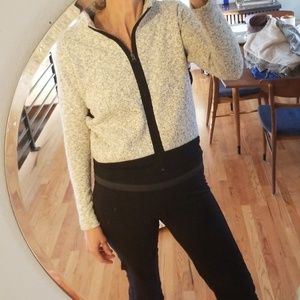 Gaiam gray and black zip up sweater